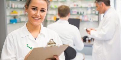 Pharmacist helping